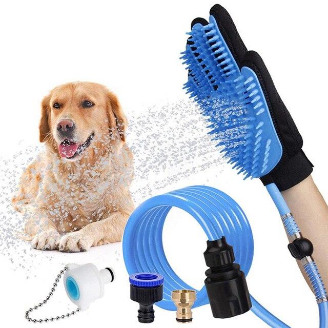 Portable Pet Bathing Glove Shower Massage   1