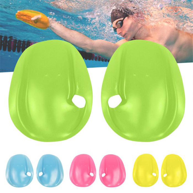1 Pair Silicon Swimming Paddles Stroke Professional Hand Paddle Water Sports Swimming Training Accessories