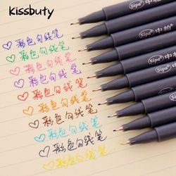10 Pcs/Set Sipa Micron Color Pen Fine Line Drawing Pens 0.38mm Manga Cartoon  Design Coloration Stationery School Art Supplies
