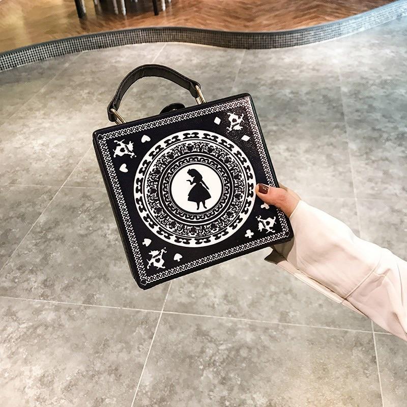 New Hit Color Printed Box Bag 2020 Korean Casual Women's Bag Portable Small Suitcase Bag Tide Single Shoulder Messenger Bag