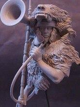 1/10 anicent โรมัน Man Warrior หน้าอกเรซิ่นรูปชุด Miniature GK Unassembly Unpainted