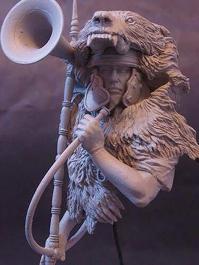 1/10  anicent Roman man warrior bust   Resin figure Model kits Miniature gk Unassembly Unpainted