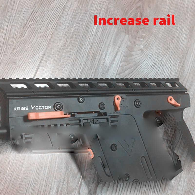 Код X гелевый шар Balster LeHui Kriss Vector V2 DuanJian V2 увеличенный рельс Upgrade3d напечатанный увеличенный хвост аксессуары для Игрушечного Пистолета