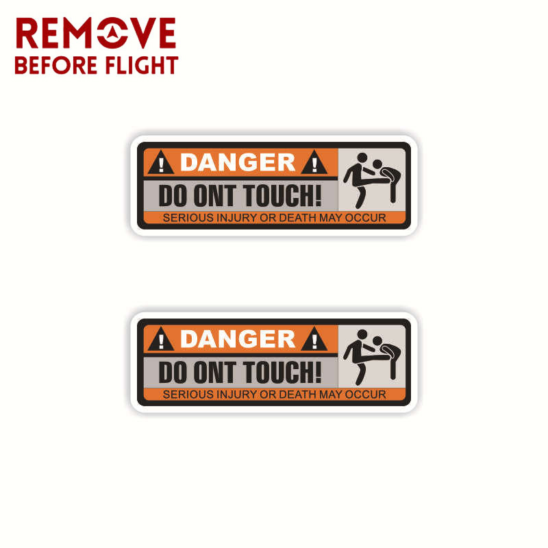 1 Pair Do Not Touch Car Sticker Vinyl Decal Warning Sign Waterproof PVC Funny Cars Styling Creative Auto Products-in Car Stickers from Automobiles & Motorcycles