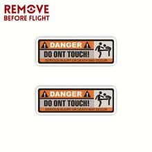 1 paar Niet Touch Auto Sticker Vinyl Decal Waarschuwing Teken Waterdichte PVC Funny Cars Styling Creative Auto Producten