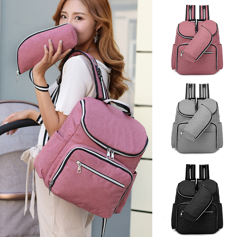 New Waterproof Maternity Bags Baby Mummy Diaper Bags Solid Nappy Bag Mom Backpack For Stroller Bolsa Maternidade