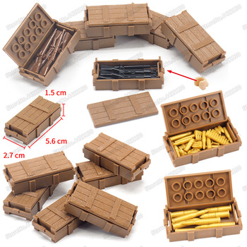 Military ww2 Weapons Box Army Soldier Figures Special Forces Assemble Building Blocks Storage Box Set Child Christmas Gifts Toys 12pcs set military wapen special armed forces soliders action figures gun toys building blocks compatible legoings for child