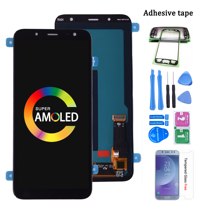 Original Super AMOLED For Samsung Galaxy J6 2018 J600 J600F J600Y LCD screen Display and touch Glass pannel Assembly