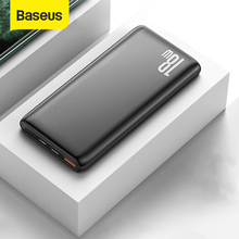Baseus باور بانك رفيع 10000 مللي أمبير ، بطارية خارجية 3.0 PD3.0 ، شحن سريع ، متوافق مع iPhone11 ، Xiaomi