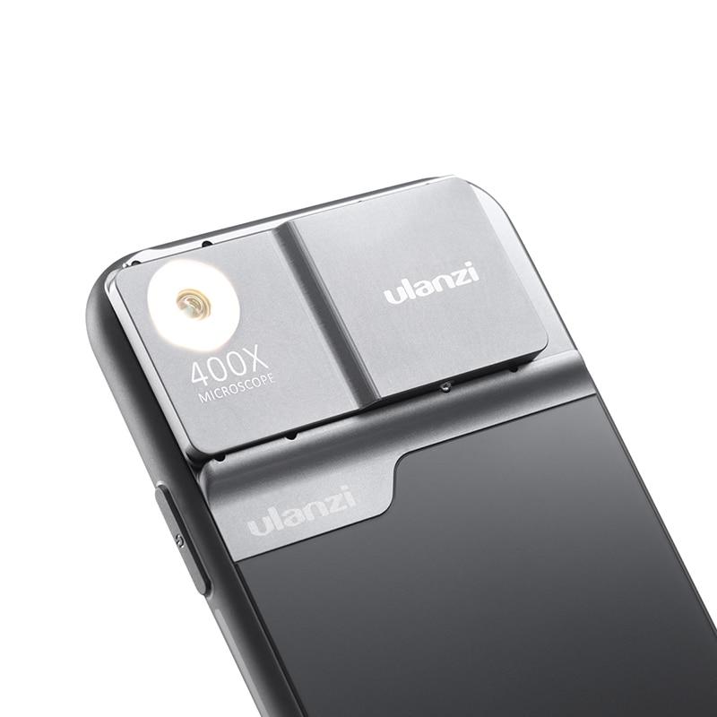Ulanzi 400X Microscope Phone Lens Case For IPhone 11 Pro Max Phone Lens LED Light Phone Case Kit