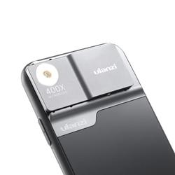 Ulanzi 400X Mikroskop Lensa Ponsel Case untuk iPhone 11 Pro Max Ponsel Lensa Lampu LED Phone Case Kit