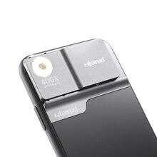 Ulanzi 400X mikroskop telefon Lens kılıfı iPhone 11 Pro Max telefon Lens LED ışık telefon kılıfı kiti