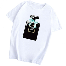 Harajuku moda Vogue Perfume Mujer camisa chica algodón Kawaii Casual Camiseta divertida Mujer estético ropa Vintage Camiseta
