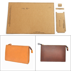 1Set DIY Kraft Paper Template New Casual Fashion Men's Clutch Leather Craft Pattern DIY Stencil Sewing Pattern 24cm*15cm