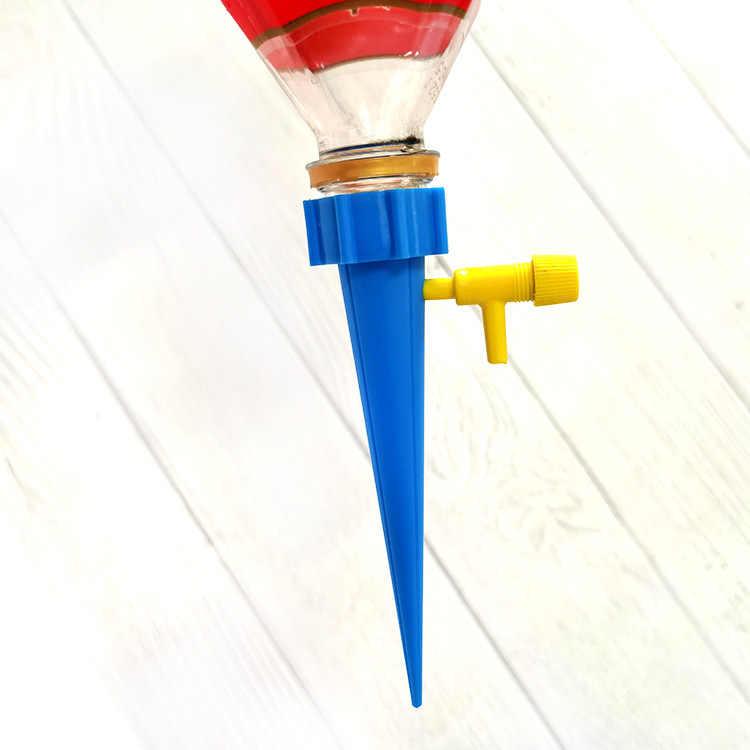 1PC Auto Irigasi Tetes Penyiraman Sistem Otomatis Penyiraman Spike untuk Tanaman Bunga Rumah Tangga Dalam Ruangan Waterers Botol