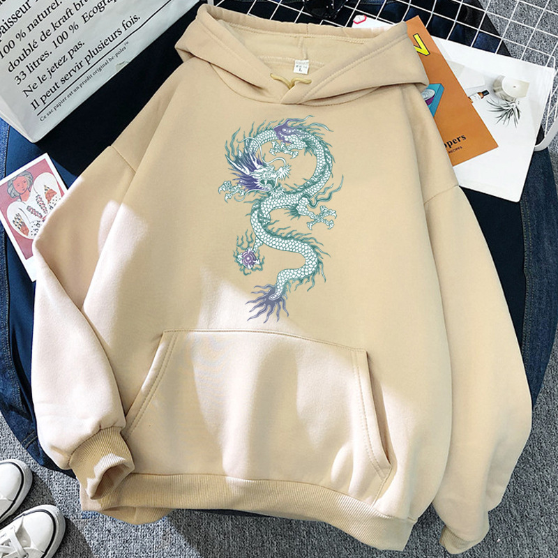 Cool Dragon Plus Size Print Sweatshirts Women Oversized Tops Hoodies Female Pullovers Casual Hoody Harajuku Korean Style Clothes 9