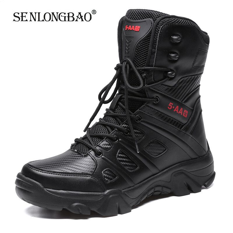 2020 New Military Tactical Mens Boots Special Force Leather Desert Boot Outdoor Combat Ankle Boot Men's Shoes Plus Size 39-47