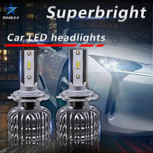 Автомобильная светодиодсветильник лампа H4 H7 6000k H1 H11 H3 H8 Hb4 Hb3 H27 12 В 9005 9012 H1R2