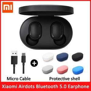 Image 1 - Original xiaomi redmi airdots s tws fones de ouvido sem fio xiaomi controle voz bluetooth 5.0 redução ruído da torneira controle ai
