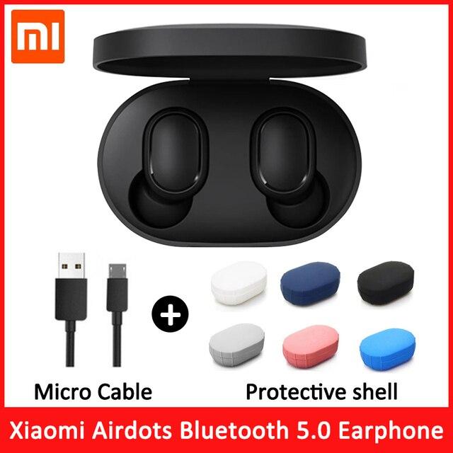 Original xiaomi redmi airdots s tws fones de ouvido sem fio xiaomi controle voz bluetooth 5.0 redução ruído da torneira controle ai