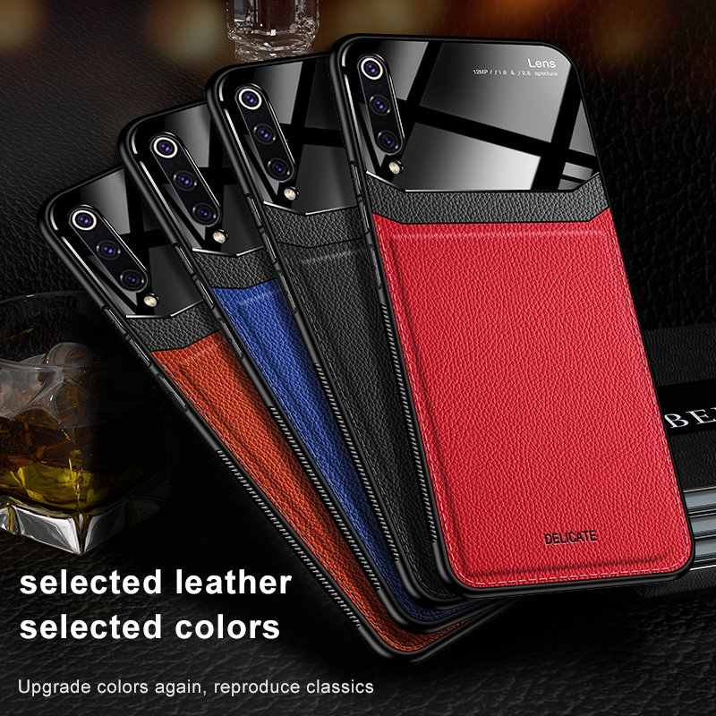 Leather Case Voor Xiao mi mi 9 9 t PRO 9SE 8 lite Max 2 3 case Luxe Mi rror glas shockproof Cover Voor Red mi 7/8 note 7/8 pro Case