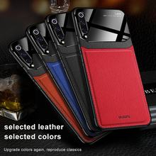 Leather Case untuk Xiao Mi Mi 9 9T PRO 9SE 8 Lite Max 2 3 Case Mewah Mi Rror Rror Kaca shockproof Cover untuk Merah Mi 7/8 Note 7/8 Pro Case(China)