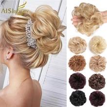 Synthetic Hair Chignons Elastic Scrunchie Extensions Hair Ribbon Ponytail Bundles Updo Hairpieces Donut Bun for Brides Women