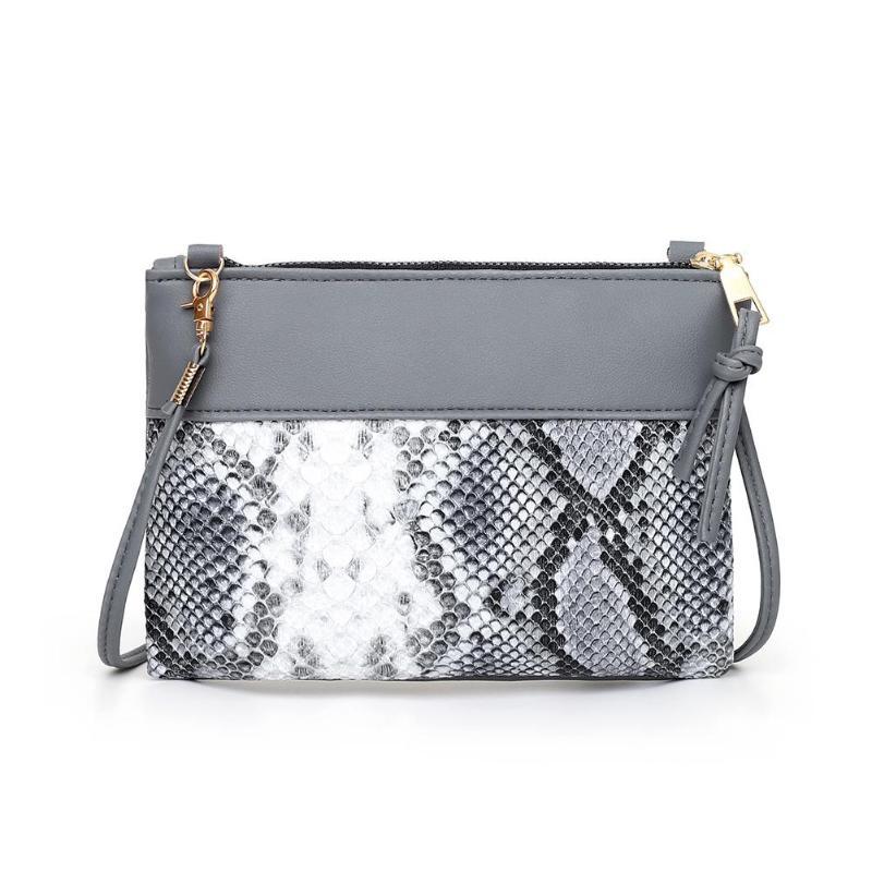 Women Shoulder Bag Fashion Snake Print Crossbody Handbag Women PU Leather Splicing Small Purse Retro Ladies Shoulder Bags