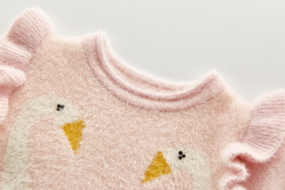 2020 Autumn Winter Newborn Rompers Baby Girl Rompers Baby Girl Long Sleeves Little Swan Rompers Baby Girl Newborn Knit Rompers | Happy Baby Mama