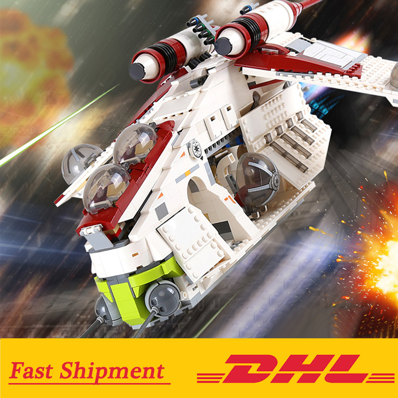 05041 Wars on Star Toy  Republic Gunship Set compatible with 75021 Ship for children Educational Blocks gift for boy 1