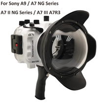 For Sony A9 / A7 III A7R3 A7RIII A7III A7M3 / A7 II A7II A7M2 A7SII A7RII / A7 A7R A7S Underwater camera housing Diving Case meikon 40m 130ft waterproof housing case for sony a7 iii a7r iii a9 a7s ii a7ii a7r ii a7m3 camera wire angle dome port