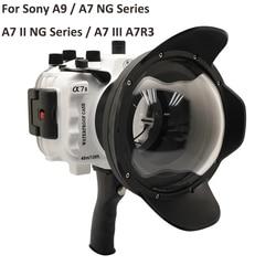 For Sony A9 / A7 III A7R3 A7RIII A7III A7M3 / A7 II A7II A7M2 A7SII A7RII / A7 A7R A7S Underwater camera housing Diving Case