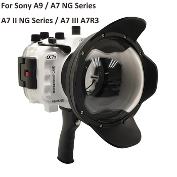 For Sony A9 / A7 III A7R3 A7RIII A7III A7M3 / A7 II A7II A7M2 A7SII A7RII / A7 A7R A7S Underwater camera housing Diving Case aluminum alloy handheld camera video support kit dslr cage set with follow focus matte box for sony a7s a7 a7r a7rii a7sii gh4