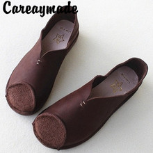 Careaymade-Full Leather Handmade Womens Shoes Breathable Comfortable Soft Japanese Bottom Anti-skid Single