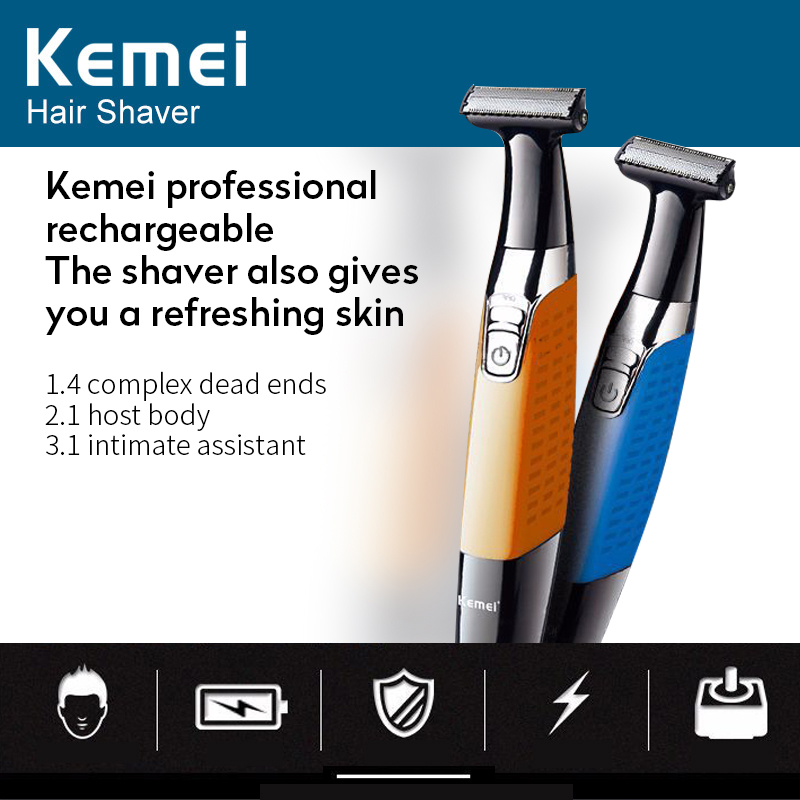 Keimei Electric Shaver Hair Trimmer For Men USB Rechargeable Beard Shaver For Men Professional Razor With Single Blade KM-1910