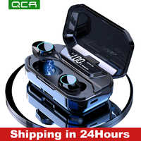 G02 TWS 5.0 Bluetooth 9D stéréo écouteur sans fil écouteurs IPX7 étanche écouteurs 3300mAh LED batterie externe intelligente support pour téléphone