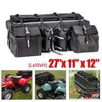Universal Large Capacity ATV Rack Back Rear Seat Storage Bag Cushion Bottom Cargo Luggage With Backrest Waterproof ATV Pack