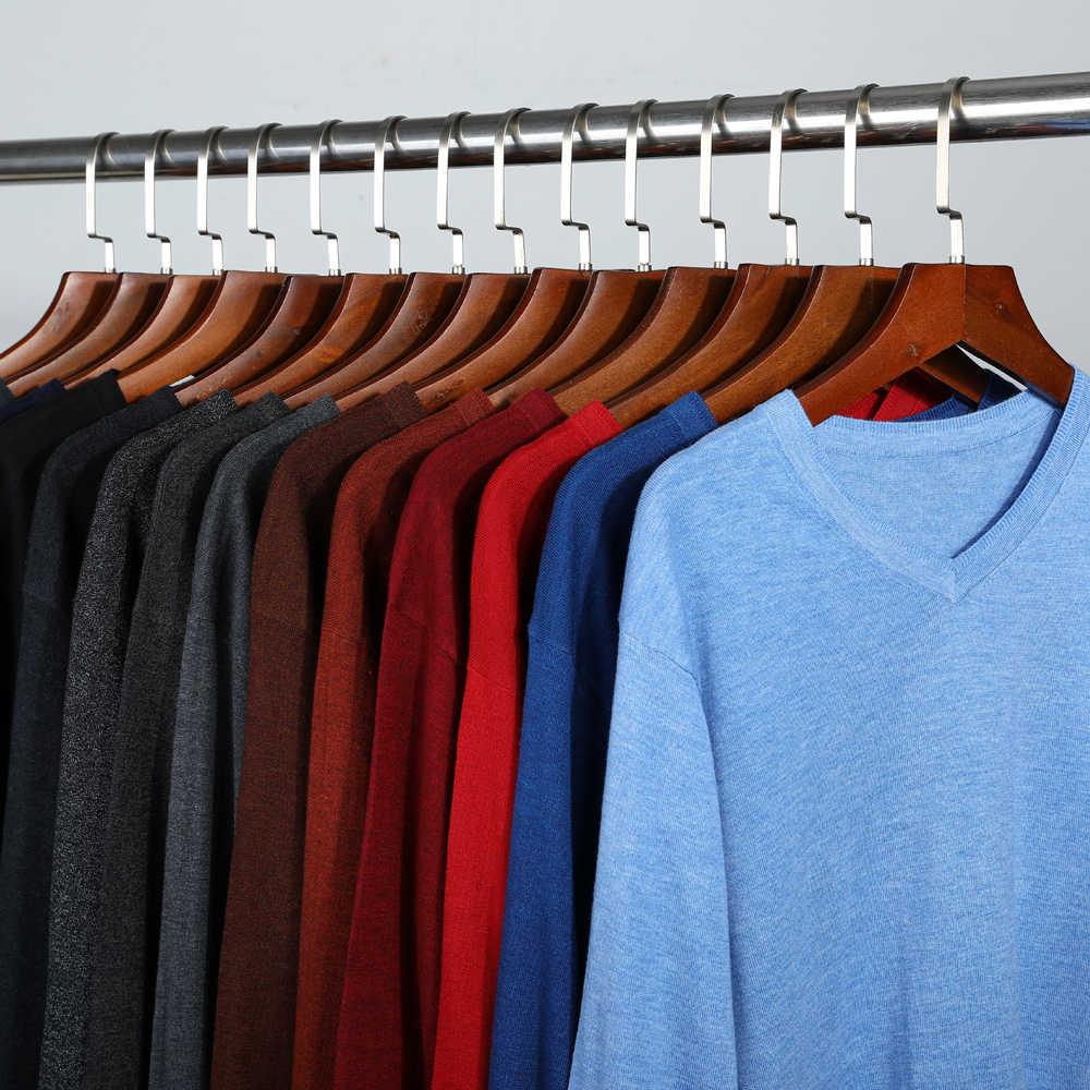 14-colore 2020 di Autunno Nuovi Uomini del Pullover Lavorato A Maglia Maglione di Cachemire Casual Affari V-Collare Sottile Slim fit Maglie E Maglioni vestiti di marca
