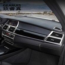 Autocollants de décoration de cadre de panneau de boutons d'intérieur de voiture pour BMW x5 x6 e70 e71, accessoires automobiles en acier inoxydable