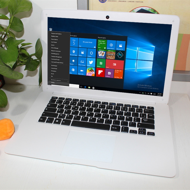 14.1 Inch Ultra-thin Laptop Windows 10 Intel Z3735F 2GB RAM 32GB Bluetooth 4.0 Notebook Tablet Multi-touch HD IPS Display