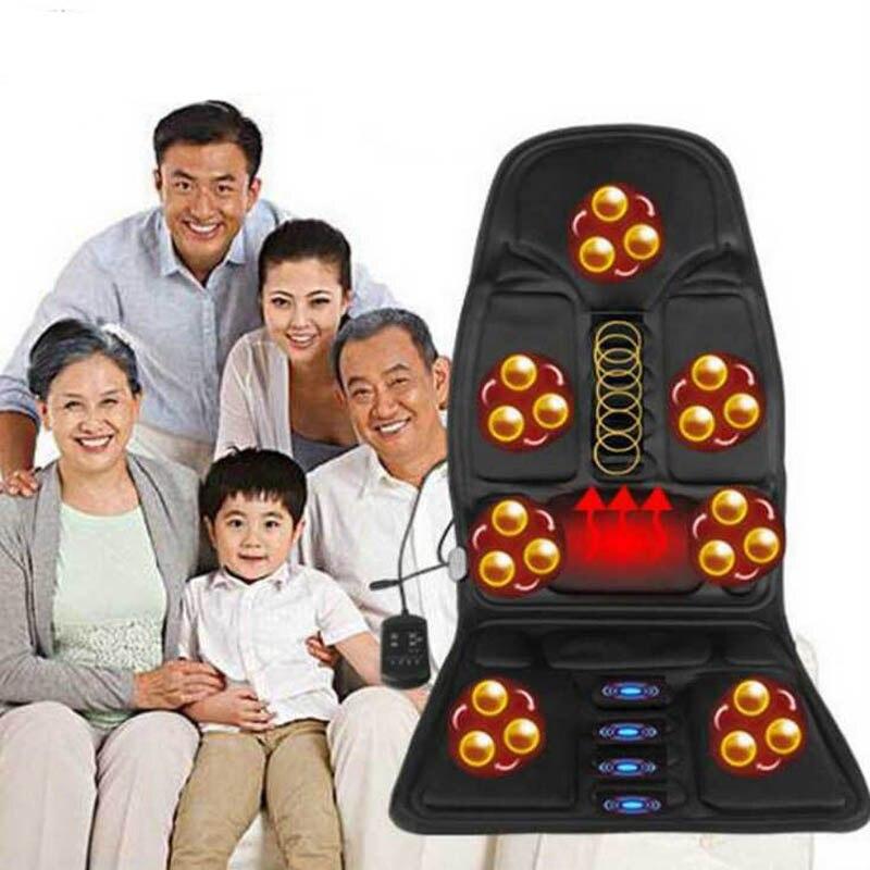 Almofada massageadora elétrica vibratória, aparelho para alívio de dor nas costas, região lombar, pescoço, para carro, casa, escritório