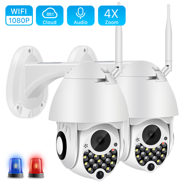 Caméra sirène lumière IP Wifi PTZ 1080P
