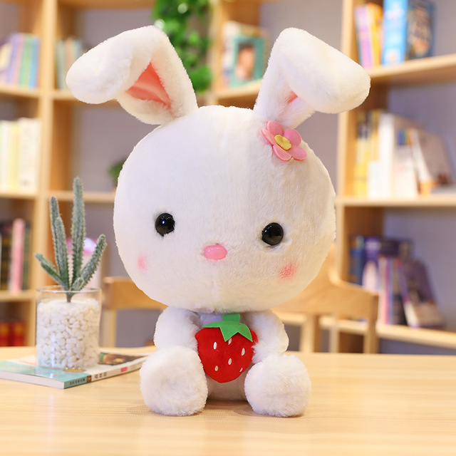Suer Cute Soft Lop Rabbit Plush Toy Lovely Stuffed Animals Plush Bunny Rabbits Doll Pillows Kids Toys for Girls Valentine's Gift
