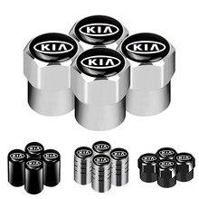 4 шт. автомобильный значок для колес Стикеры для колеса шины клапан Кепки пылезащитный колпачок для шины Кепки для KIA K2 K3 K5 Sorento Sportage РИО ДУША ...