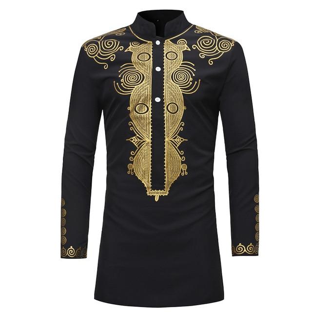 MD الأفريقية الرجال dashiki قميص ملابس رجالية بكم طويل القمصان التقليدية بازين تي شيرت جنوب أفريقيا المطرزة الملابس التقليدية ارتداء