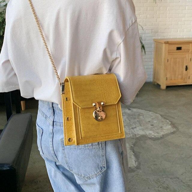 Raaqy Rivet Pu Leather Crossbody Flap Bag