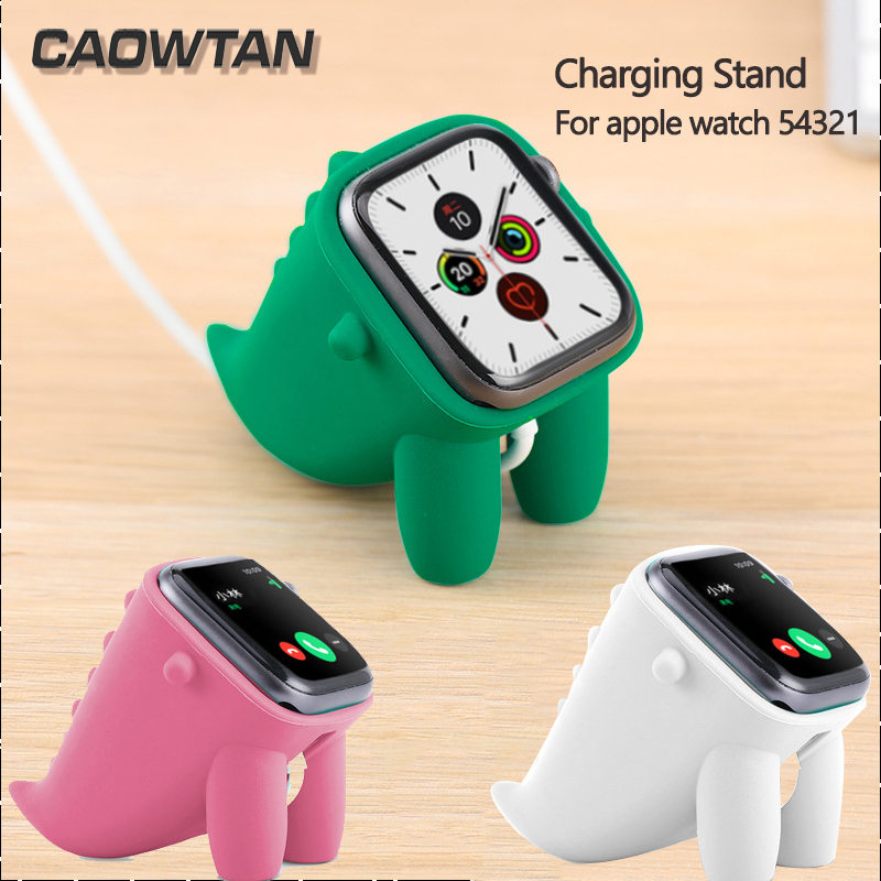For Apple Watch 5 4 3 2 1 Band Stand  Silicone Charging Cable Winder Stand Dock Cable Holder Wallet For Iwatch 38MM 42MM