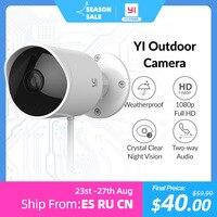 YI Wifi telecamera esterna 2.4G sicurezza Wireless IP Cam risoluzione rilevazione di movimento impermeabile sistema di sorveglianza di sicurezza Cloud