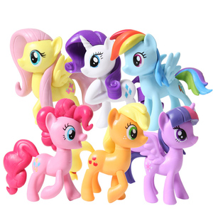 My Little Pony Character Game Set Twilight Sparkle Fluttershy PVC Action Figure Princess Girls Collection Model toy