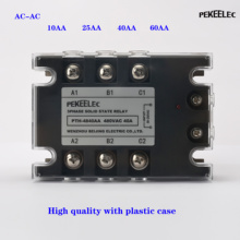 цена на Solid State Relay AC-AC SSR-3D4810A 25A 40A 60A 80A 100A 3-32VDC TO 30-480VAC Load Current Three Phase for Temperature Control